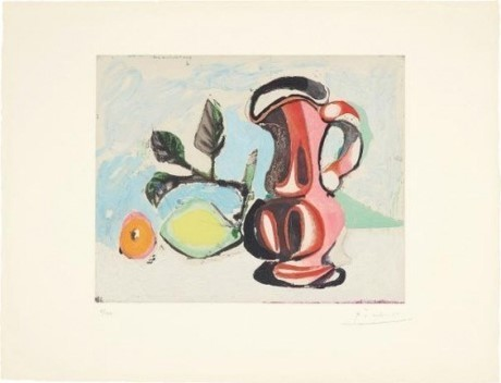 , 'Nature Morte Au Citron Et Pichet Rouge (Still Life with Lemon and Red Pitcher),' 1964, Rhodes