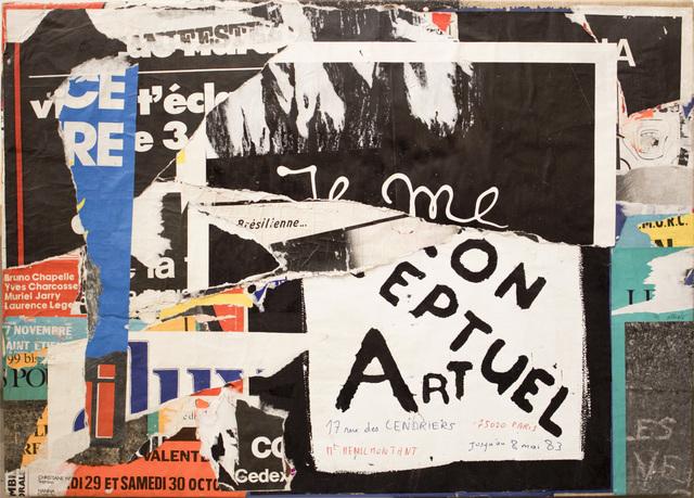 , 'Ex-Rue due grenier St Lazare, prolongée (15 mai 1983),' 1983, Diane Rosenstein