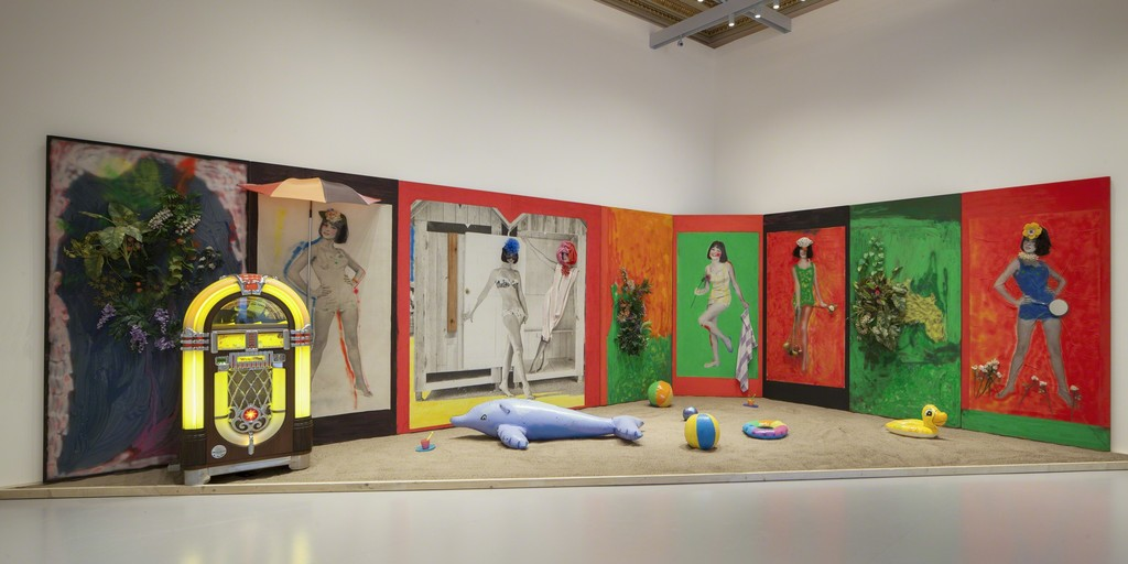 Martial Raysse, Raysse Beach, 1962 Centre Pompidou - Musée national d'art moderne, Paris. Installation view at Palazzo Grassi 2015 Ph : © Fulvio Orsenigo © Martial Raysse by SIAE 2015
