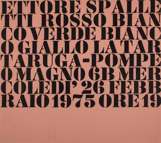 Ettore Spalletti, 'Rosso bianco verde bianco giallo', 1975, Drawing, Collage or other Work on Paper, Flyer, Finarte