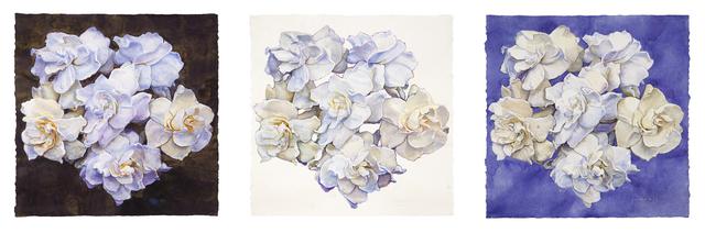 Joseph Raffael, 'Triptych', 2019, Painting, Watercolor on paper, Nancy Hoffman Gallery