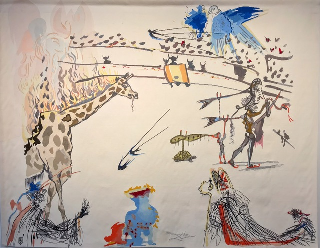 , 'Burning Giraffe,' , Russell Collection