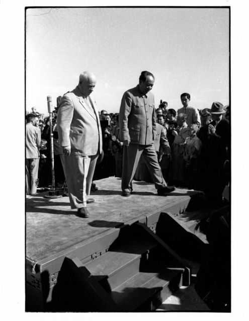 , 'Chairman Mao with Russian Premier Krushchev at the airport, Beijing,' 1959, Koru Contemporary Art