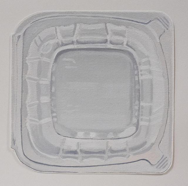Brad Nelson, 'Plastic Container', 2019, Drawing, Collage or other Work on Paper, Oil on paper, FROSCH&CO