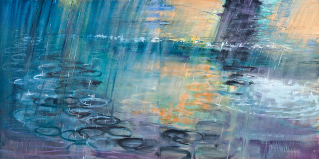 , 'Rain Diptych,' 2008, RYAN LEE
