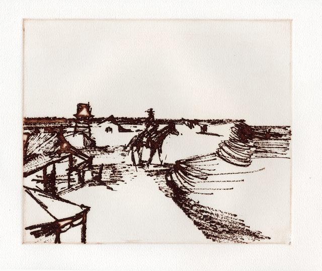 Sidney Nolan, 'Township', 1971, Print, Etching, Goldmark Gallery