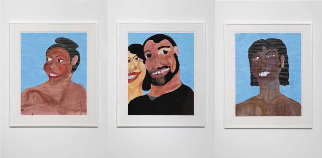 , 'Black Joy 3 - Smirk, Black Joy 4 - With Yellow Bone, Black Joy 5 - With Large Teeth,' 2019, Pilar Corrias Gallery