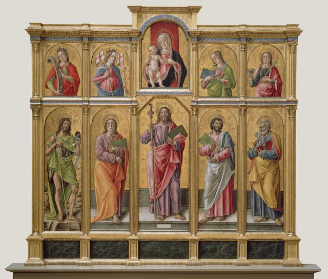 Bartolomeo Vivarini, 'Polyptych with Saint James Major, Madonna and Child, and Saints', 1490, J. Paul Getty Museum
