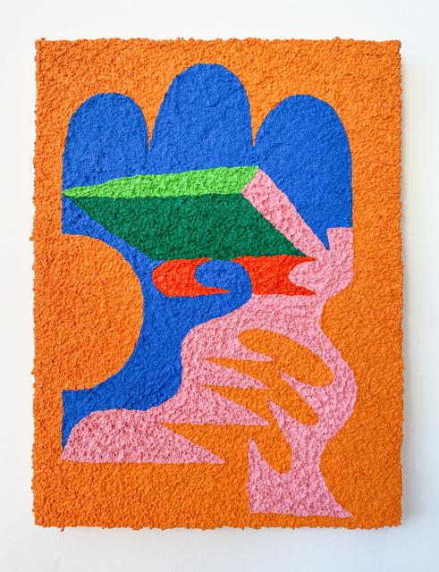 Carlos Rosales-Silva, 'Biblioteca', 2020, Painting, Sand in acrylic paint on panel, Ruiz-Healy Art