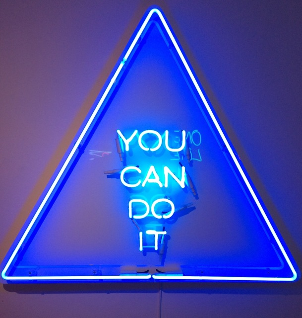 Zoe Grace, 'You Can Do It', 2016, Sculpture, Neon and Perspex, Signed Limited Edition of 5, Rhodes