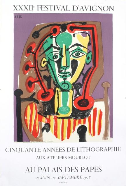 Pablo Picasso, 'Palais des Papes, Tete de Femme', 1978, ArtWise