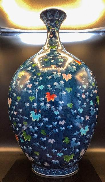, 'Japanese Extra Large Contemporary Peony Arita Porcelain Vase ,' 21st. Century, Romang Antiques Gallery - Asian Art