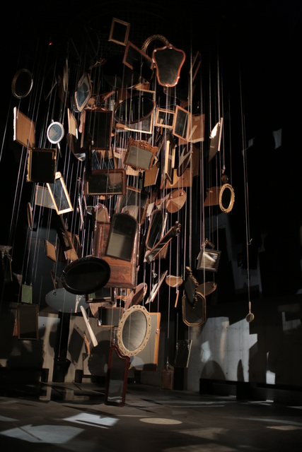 Janet Cardiff & George Bures Miller, 'The Infinity Machine', 2015, Installation, Mixed media installation including antique mirrors, rotator, audio, and lighting, Luhring Augustine