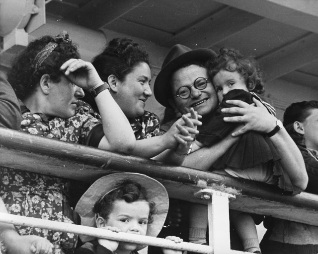 Robert Capa, 'Israel, family looking the Promised Land', 1948-1950, Photography, Three vintage gelatin silver prints., Il Ponte