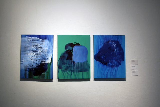, 'Things that remain unwritten #93, #95, #94 (from left to right),' 2017, Hong Kong Arts Centre