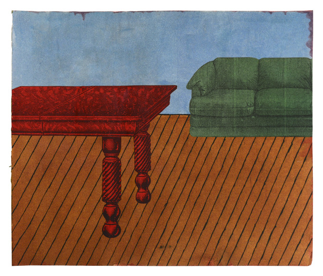 , 'Untitled (Green Couch Red Table) - Page from Mixed Media Collage Book, Sides A and B,' ca. 1970, FRED.GIAMPIETRO Gallery