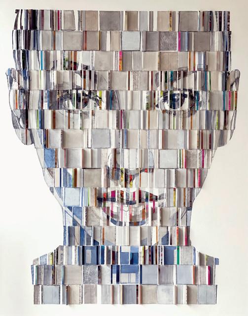 J. L. Martin, 'Éléa', 2020, Painting, Paper, wood, oil on canvas, pencil, Art Center Horus