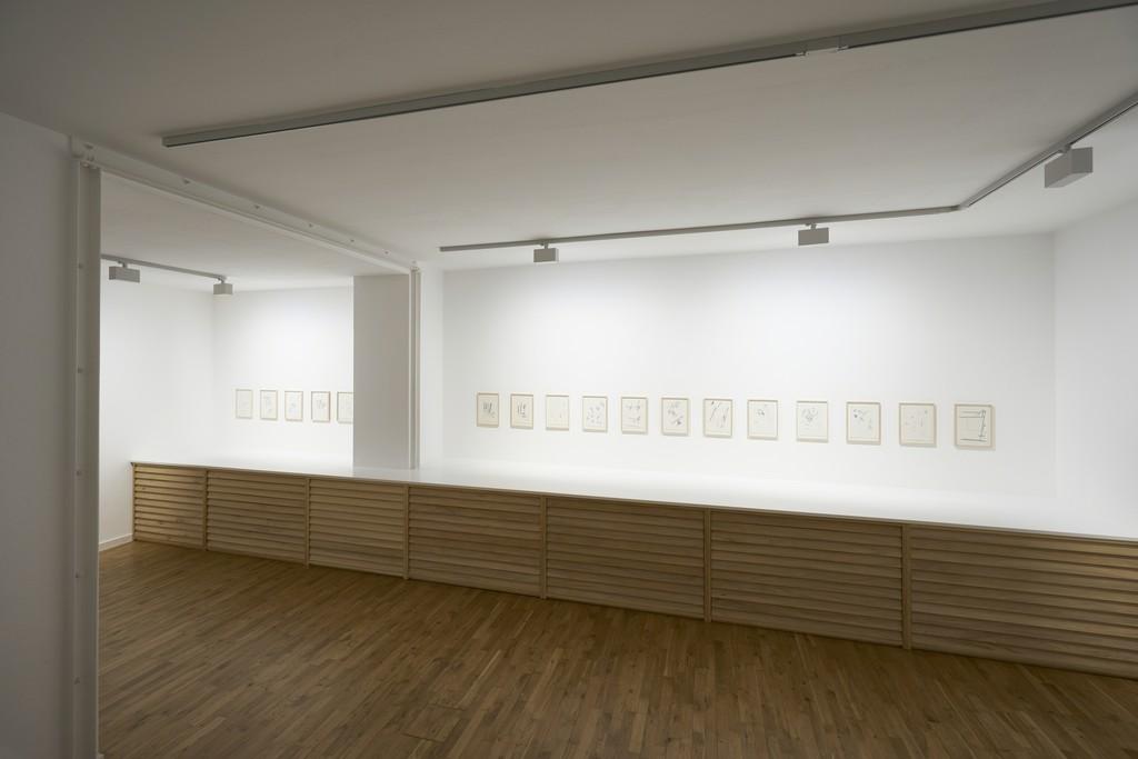 Imi Knoebel, Drawings, 2017 Installation view / Ausstellungsansicht