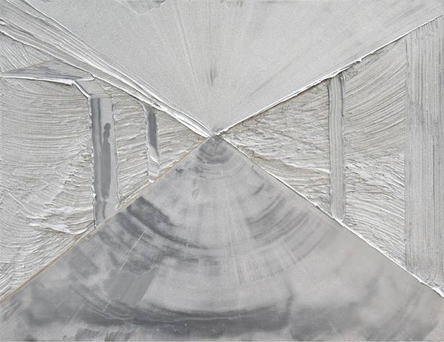 , 'scraped painting -silver 1-,' 2017, MAHO KUBOTA GALLERY