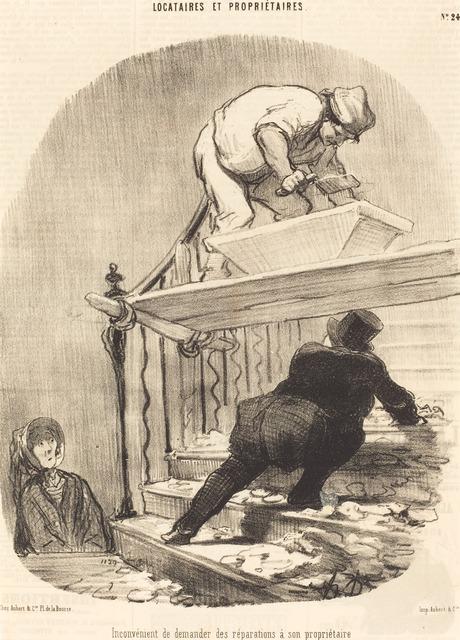 Honoré Daumier, 'Inconvénient de demander des réparations...', 1847, National Gallery of Art, Washington, D.C.