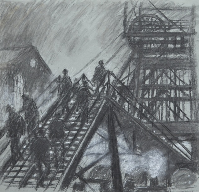 , 'Gantry with steam engine ,' ca. 1964, Castlegate House Gallery