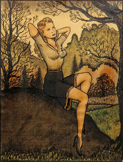 , 'Janet Lingart Relaxing in the Park, wearing her Interstate Bureau of Scientific Investigation Uniform,' ca. 1956, Ricco/Maresca Gallery