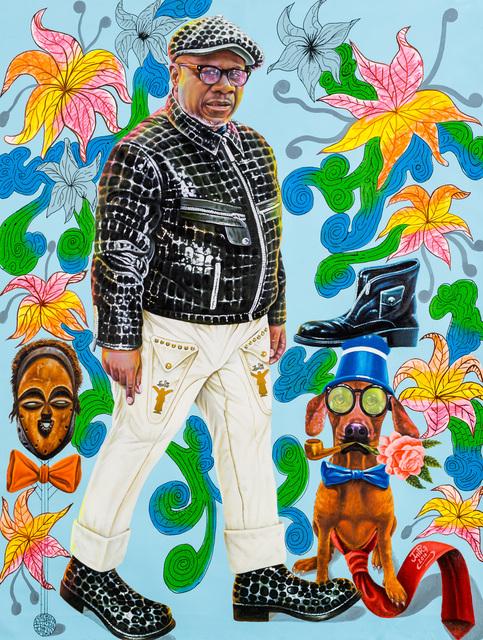 JP Mika, 'Papa Wemba, sapeur modèle de génération en génération', 2016, Africa Bomoko