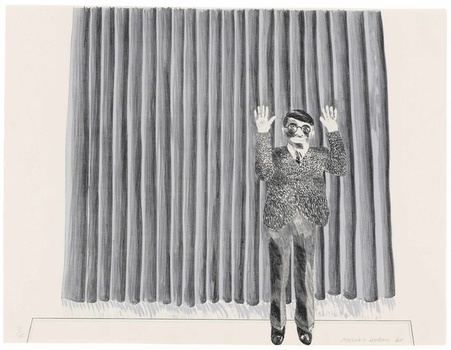 David Hockney, 'Figure by a Curtain', 1964, Christie's