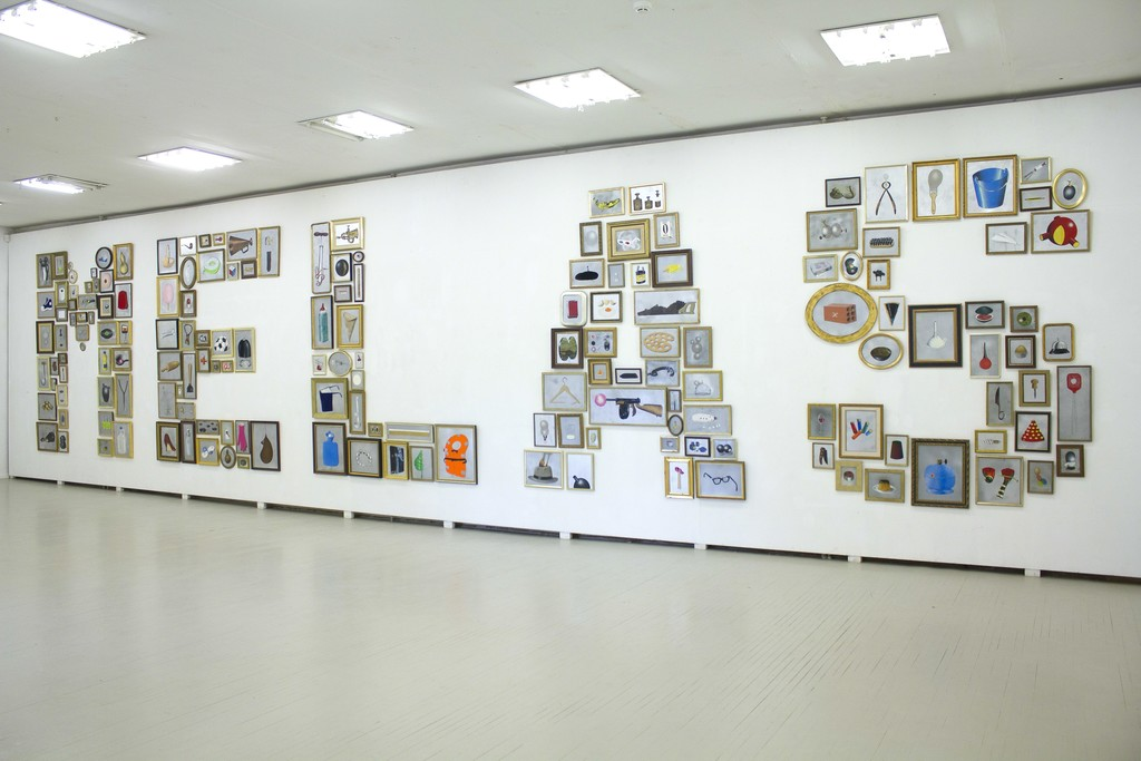 Fragment of exposition with works by Xesco Mercé