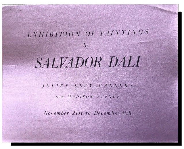 "Salvador Dalí, '""Exhibition of Paintings by Salvador Dali"", 1933,  Exhibition Announcement/ Catalogue, Julien Levy Gallery NYC, RARE', 1933, VINCE fine arts/ephemera"
