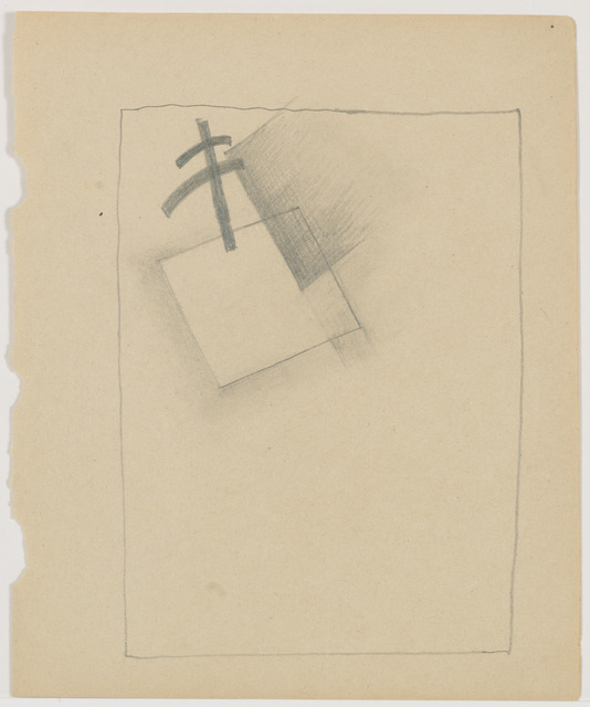 Kasimir Severinovich Malevich, 'White Square and plan for dissolution,' 1918, Annely Juda Fine Art
