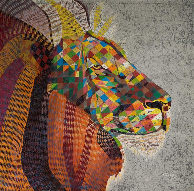 Mavova Simba, 'The King's Lion Gaze', 2017, AfricArt Gallery Hong Kong