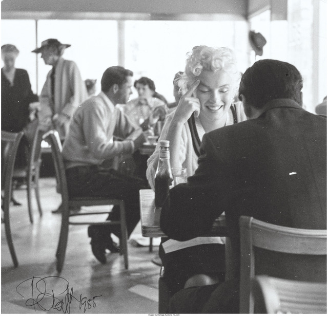 Roy Schatt, 'Marilyn Monroe at Lunch (two works)', 1958, Heritage Auctions