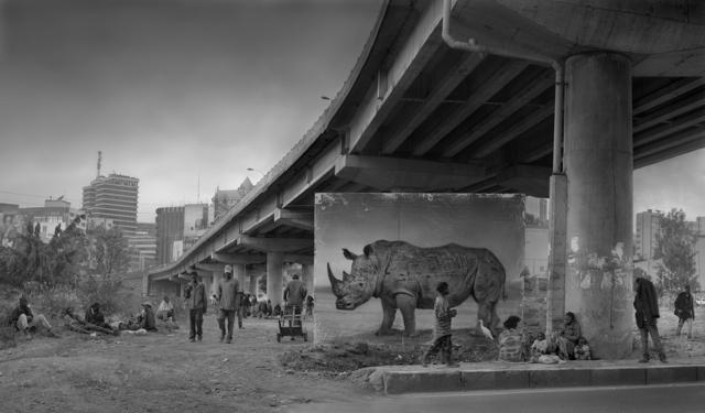 Nick Brandt, 'Underpass with Rhino & Egret', 2014, Fahey/Klein Gallery