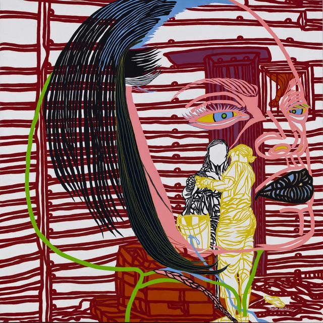 Boris Nzebo, 'Une femme avec une femme', 2014, Painting, Acrylic and Posca on canvas, PIASA