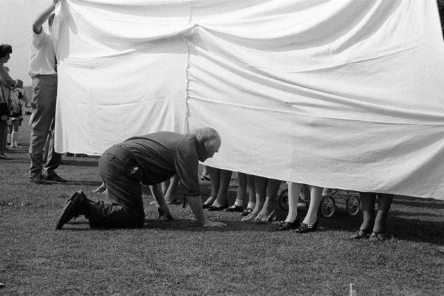 , 'Village fete, prettiest ankles competition, Marhamchurch, Cornwall,' 1970, Les Douches La Galerie
