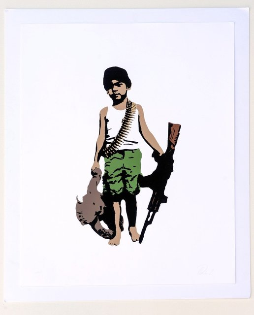 Plastic Jesus, 'War Child, Artist Proof 1/10 - Framed', 2013, Kalkman Gallery