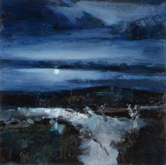 Simon Andrew, 'Low Moon Night', 2017, Wallace Galleries
