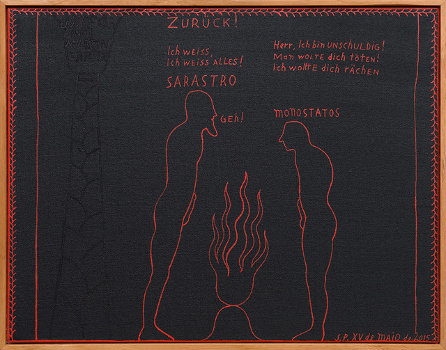 , 'Flauta mágica [Magic flute],' 2017, Casa Triângulo