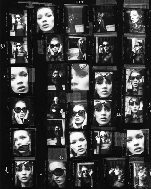 Stephanie Pfriender Stylander, 'Kate Moss (Desire) Contact Sheet, Harper's Bazaar Uomo, New York', 1992, Photography, Gelatin Silver Print, Staley-Wise Gallery