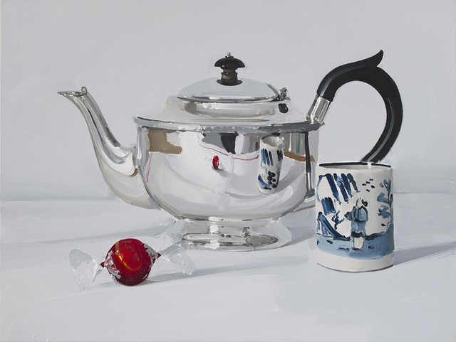 , 'Silver teapot with chocolate and cup,' , Panter & Hall