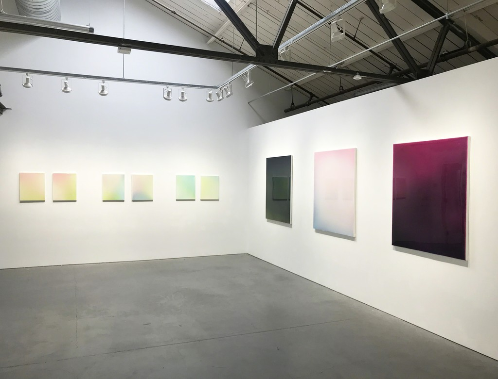 "Gilles Teboul, ""Gravity,"" Installation View at Nancy Toomey Fine Art, Acrylic and Resin on Canvas"