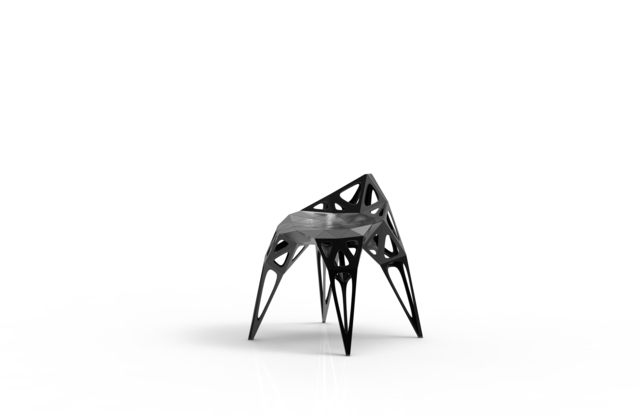 , 'MC002-F-Black (Endless Form Chair Series),' 2018, Gallery ALL