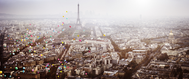 , 'Balloons Over Paris,' 2016, Galerie de Bellefeuille