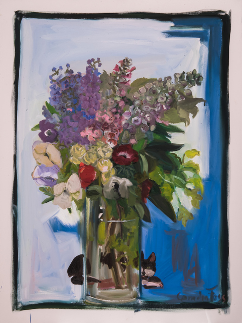 , 'Max with Flowers,' 2018, MM Fine Art