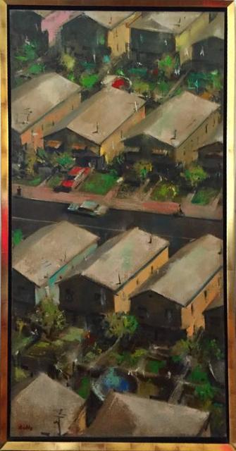 John Dobbs, 'Large Modernist Oill Painting Urban Pattern', 20th Century, Lions Gallery