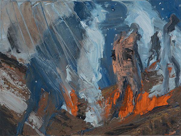 , 'Somme Study Horizontal Blue Figure 4/18,' 2018, Yavuz Gallery