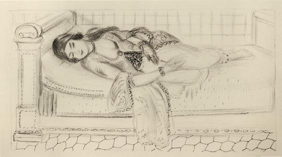, 'Orientale sur lit de repos, sol de carreaux rouges,' 1929, Alan Cristea Gallery