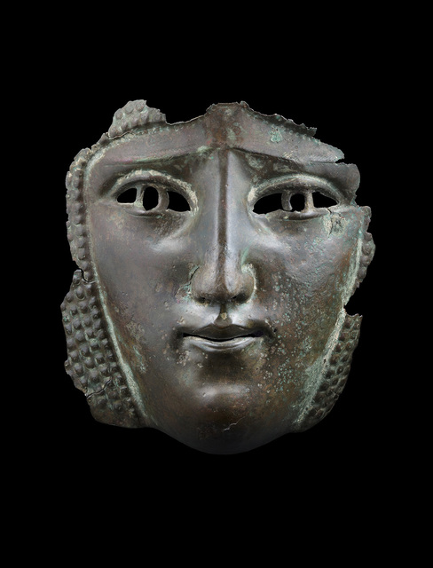 , 'Female Mask from a Parade Helmet,' Second to third century AD, Ariadne Galleries