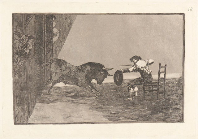 , 'The Daring of Martincho in the Ring at Saragossa (Temeridad de Martincho en la Plaza de Zaragoza),' 1816, Brooklyn Museum